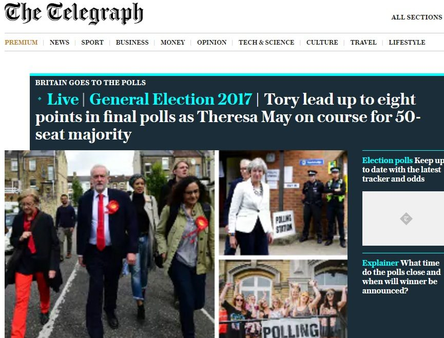 Theresa May's snap general election was good news for Telegraph subscription numbers