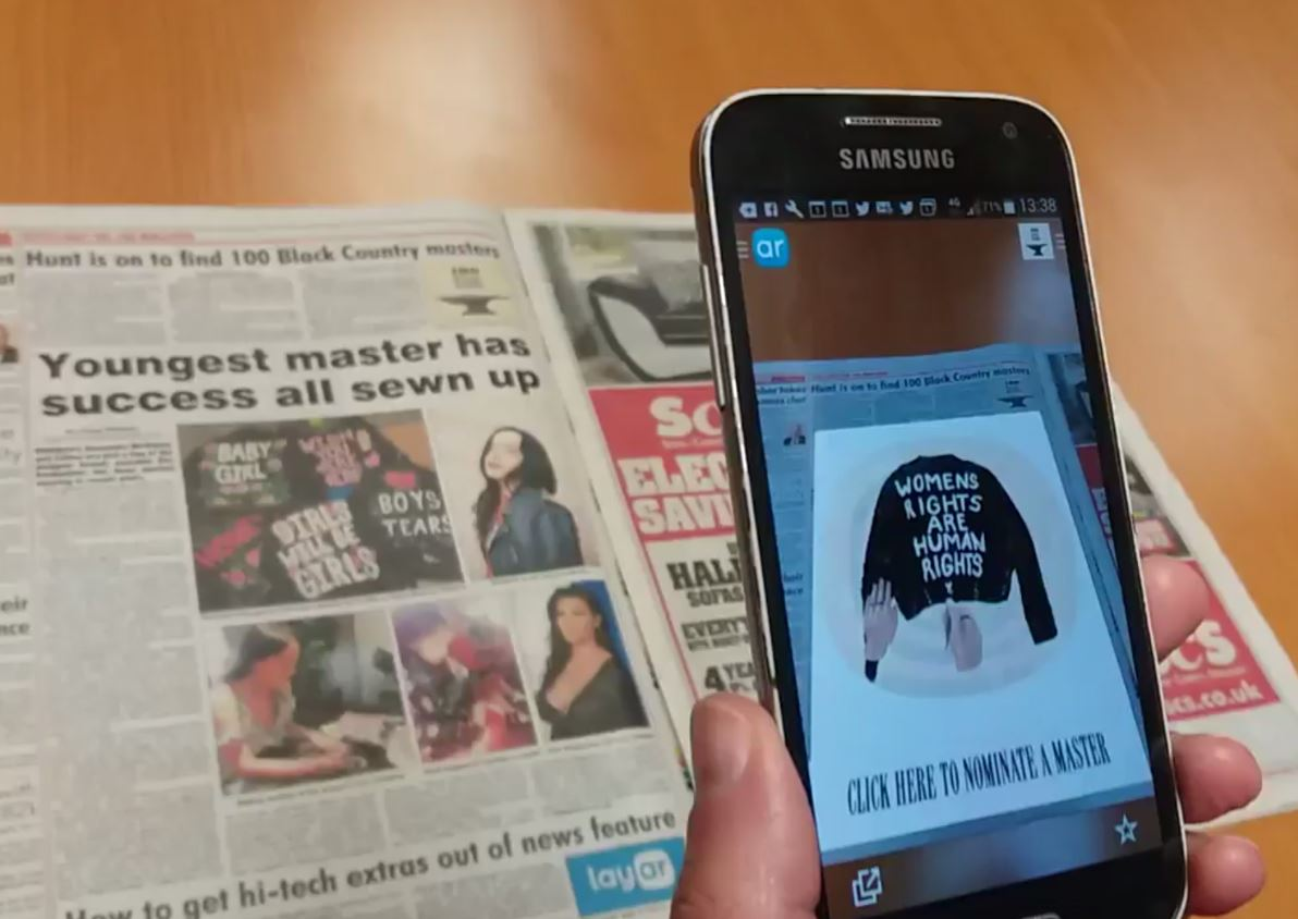 Express and Star uses augmented reality to promote creative arts