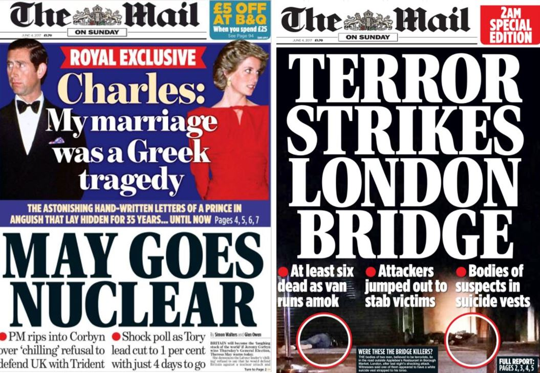 London Bridge attack: Sunday title night editors tore up front pages as News UK journalists were locked in