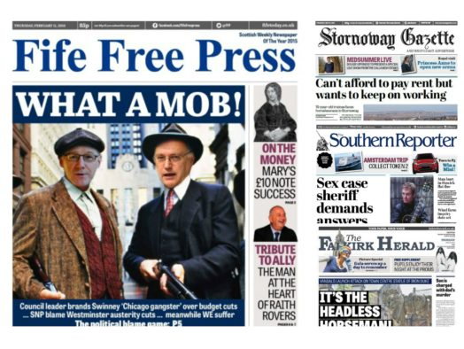 Johnston Press points finger at Google and Facebook as it outlines drastic editorial cuts at Scottish titles