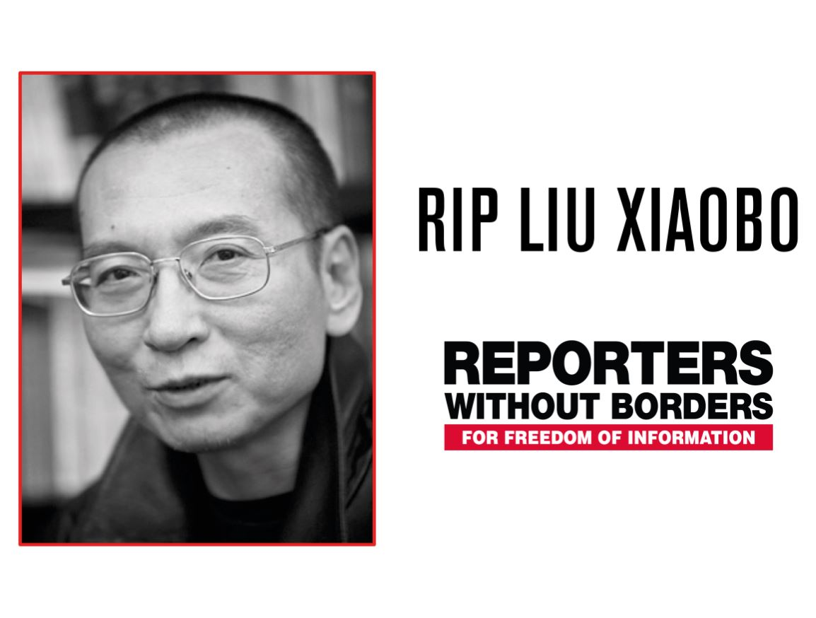 Reporters Without Borders condemns Chinese authorities over death of writer and activist Liu Xiaobo