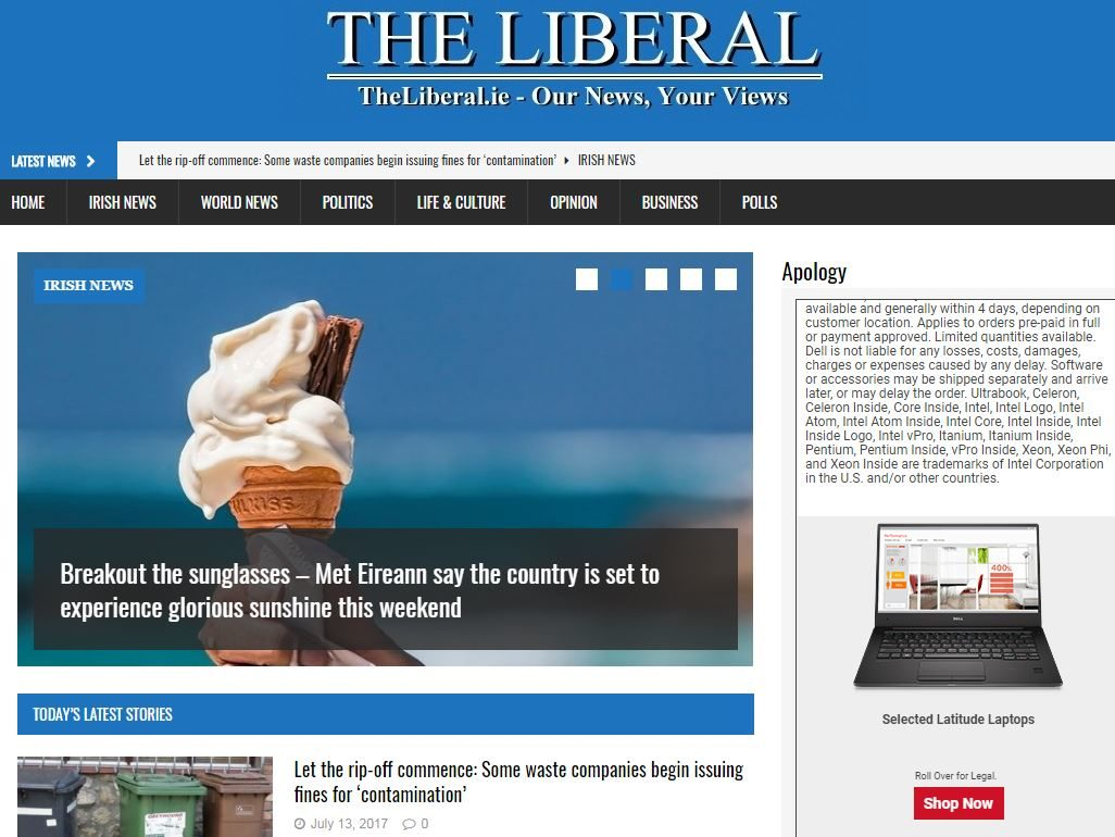 Owner of Irish website The Liberal pays damages and issues apology for using court agency copy without paying