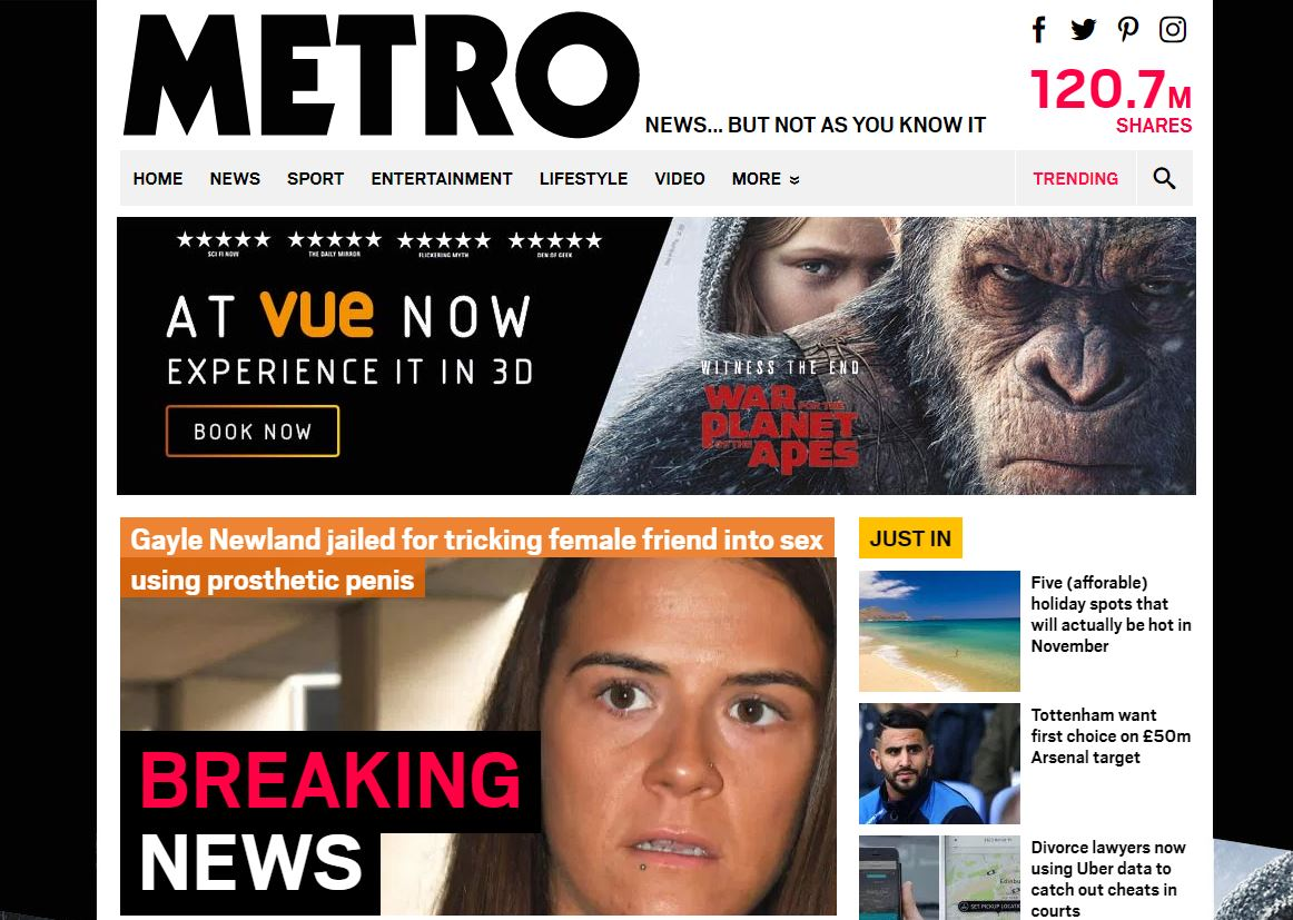 ABCs: Metro was fastest growing national newspaper website in June as Sun closed on Mirror