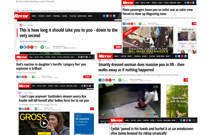 Is online journalism going down the toilet?