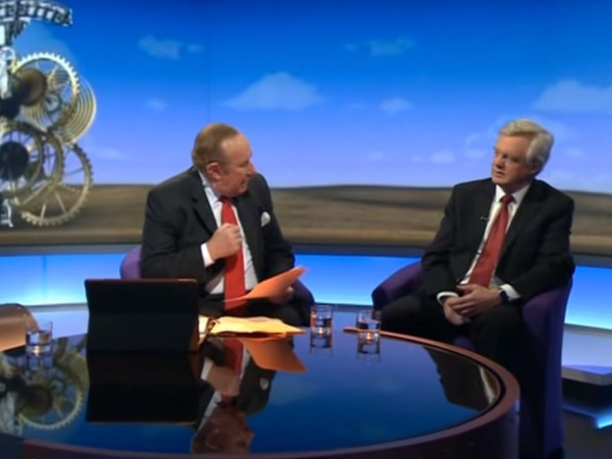 Andrew Neil says claim he gave Brexit Secretary easy time in BBC interviews because they are drinking companions is 'simply untrue'