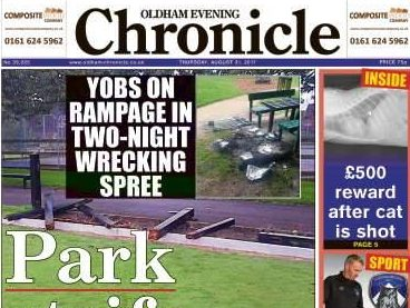 Oldham Evening Chronicle folds after 163 years as 'majority' of its 49 staff made redundant