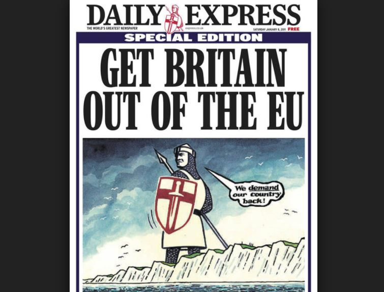 Daily Express editor Hugh Whittow on why there can be no doubt that we have his title to thank/blame for Brexit