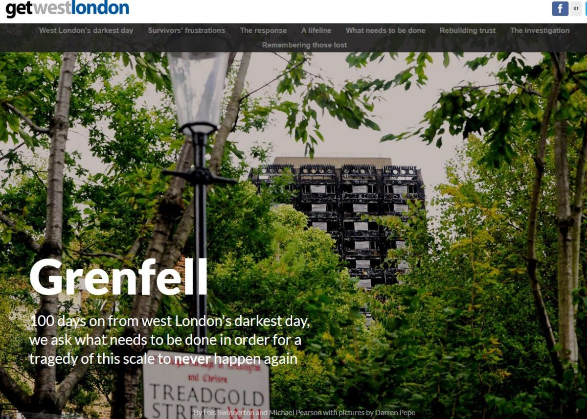 Local news website Get West London creates online memorial to Grenfell Tower disaster victims