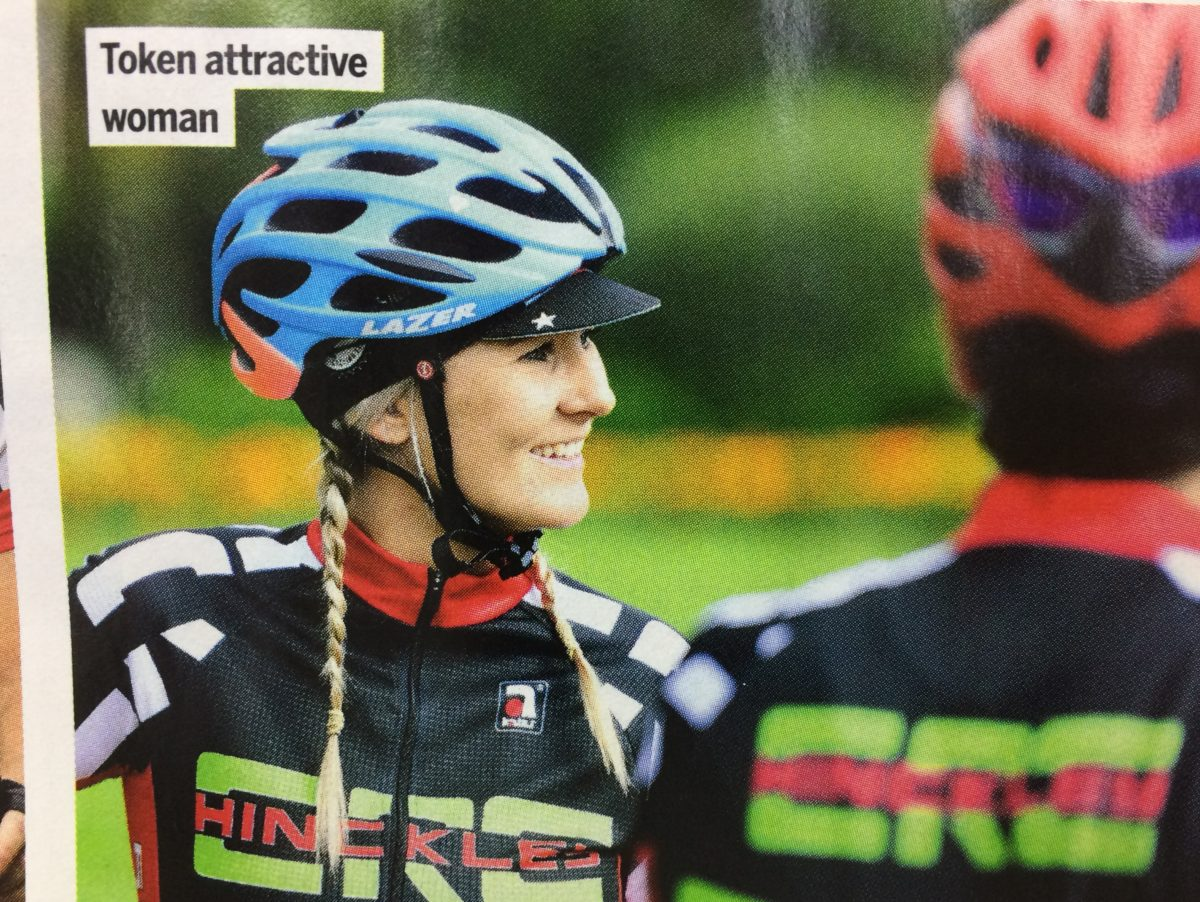 Cycling Weekly sorry for 'idiotic' picture caption describing female rider as 'token attractive woman'