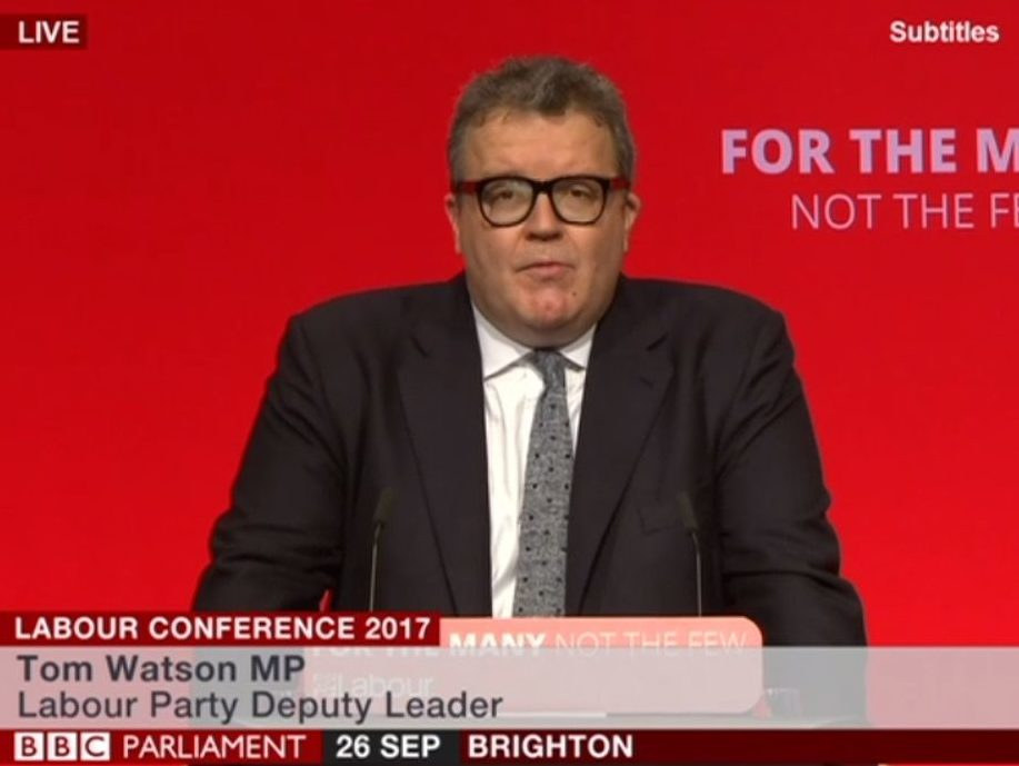 Labour deputy leader Tom Watson says 'it will never again be The Sun what won it'
