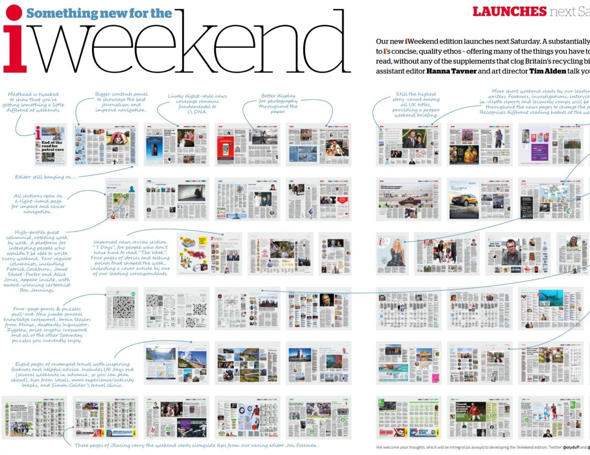 Johnston Press to launch new weekend edition of i newspaper with more feature articles