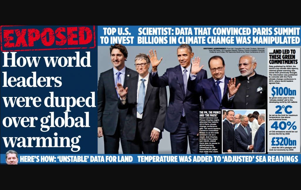 Mail on Sunday censured by IPSO for 'misleading' story which claimed 'world leaders were duped over global warming'
