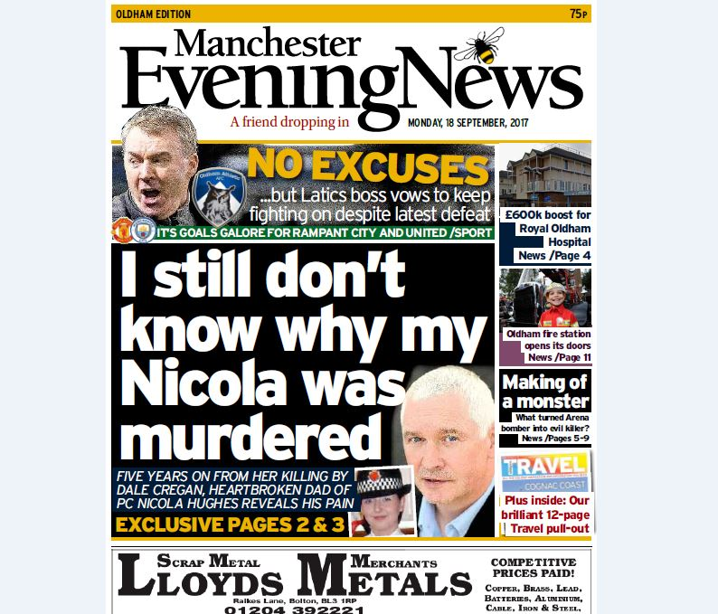 Manchester Evening News launches localised Oldham edition following closure of the Evening Chronicle