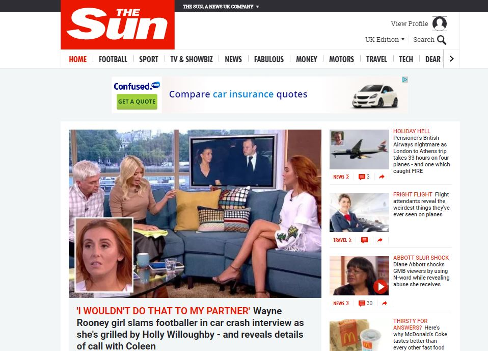 The Sun overtakes the Mirror to become third most popular national newspaper website audited by ABC