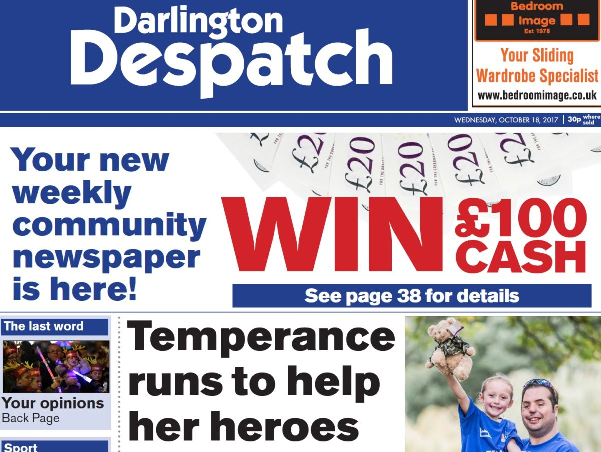 Publication of revived weekly the Darlington Despatch suspended by Newsquest for summer review