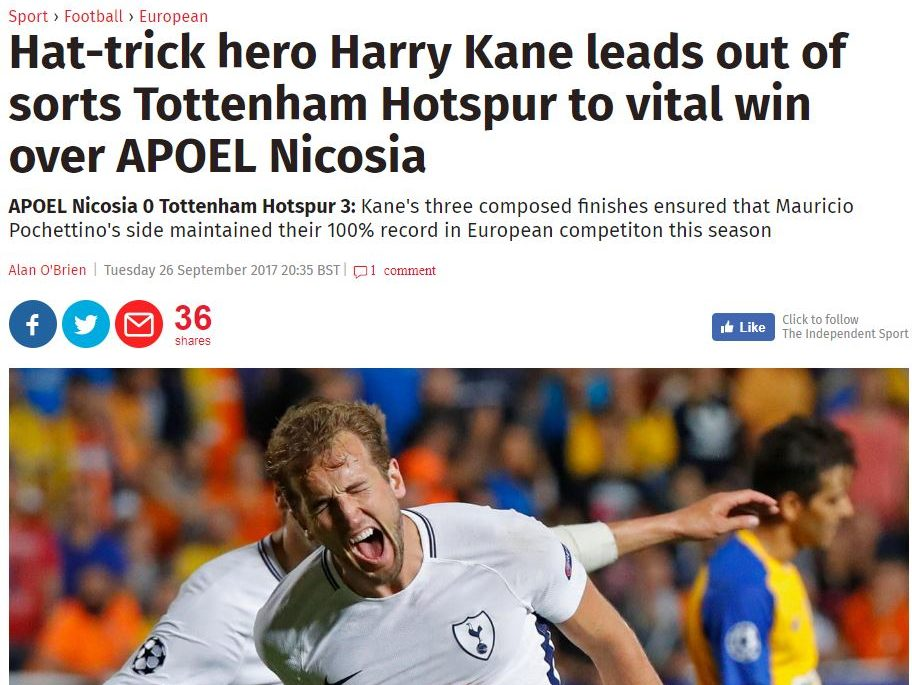 Independent production error put non-existent writer Alan O'Brien in Nicosia for match report