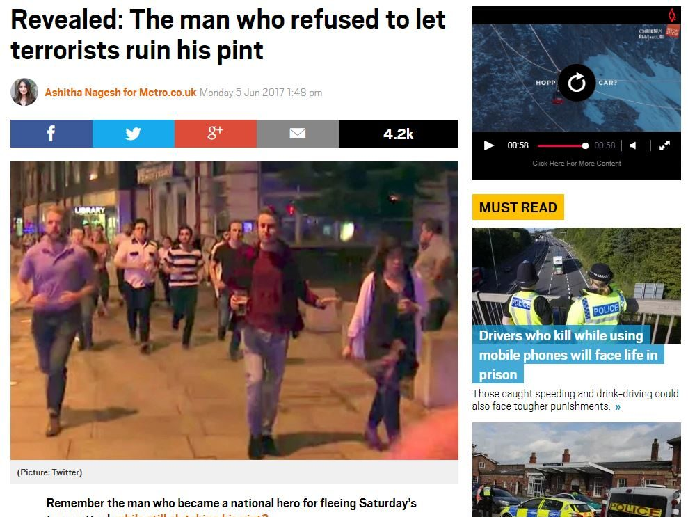 IPSO rejects complaint from sister of London Bridge attack pint runner over use of Facebook post