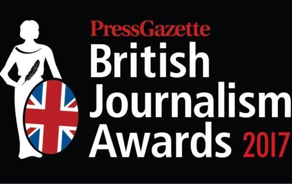 Finalists revealed for the British Journalism Awards 2017