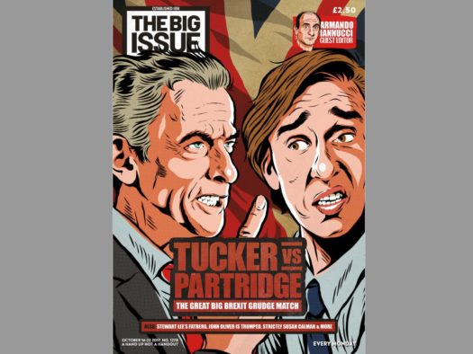 Big Issue guest editor Armando Iannucci revives Malcolm Tucker and Alan Partridge for Brexit debate 'to the death'