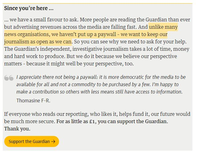 Doubling down on open journalism has paid dividends for The Guardian - but it is a long way from being a sustainable model