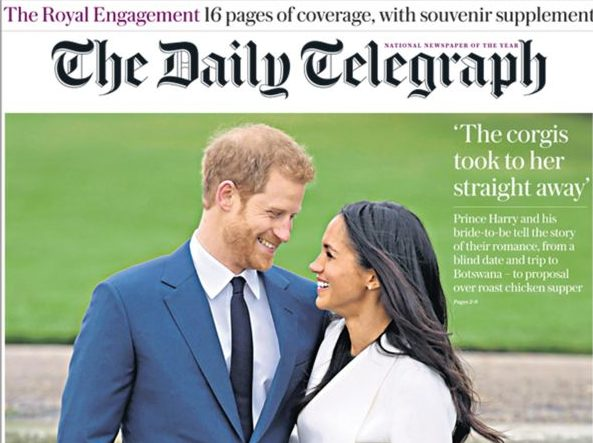 Only the FT is immune from Fleet Street royal wedding fever as Clarence House announces Prince Harry engagement on Twitter