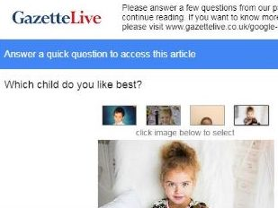 Gazette Live readers asked to pick 'best' child in Google picture survey to access child sex abuse article