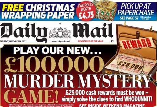 Daily Mail blames 'small group of hard left Corbynistas' for Paperchase ban on promotions in paper