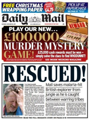 Mail on Sunday pours cold water on Daily Mail 'Rescued!' scoop over missing Brit explorer Benedict Allen