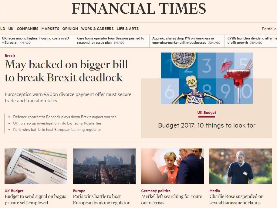 FT expands free online news access for students worldwide