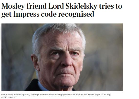 Max Mosley accuses The Times of 'fake news' over report which wrongly stated his son 'committed suicide'