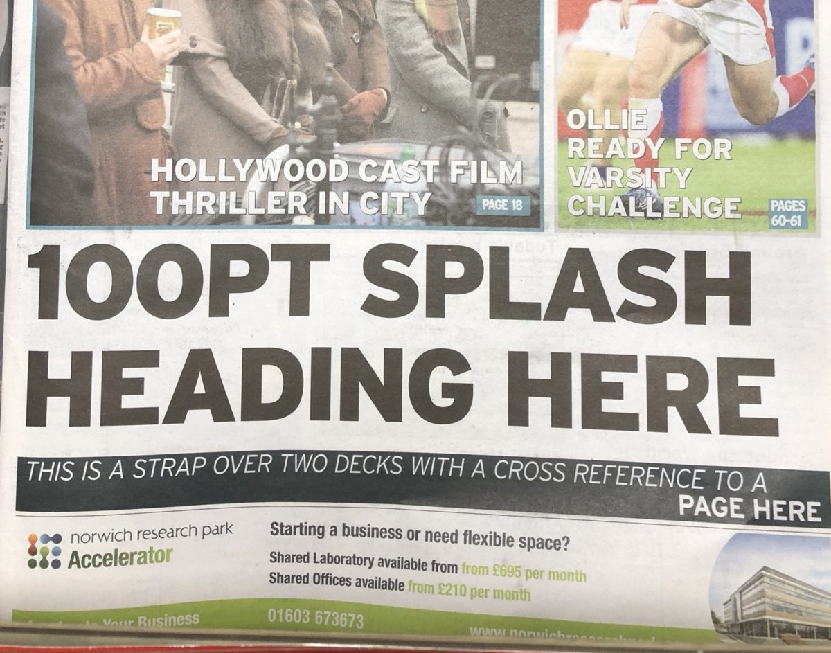 Cambridge News editor says sorry to readers over missing front page headline