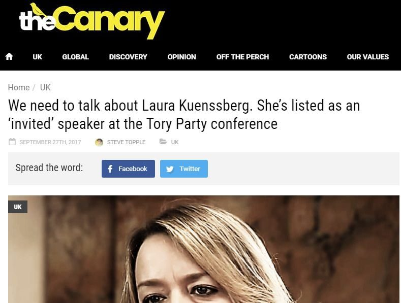Impress rules Canary breached standards code over Laura Kuenssberg article