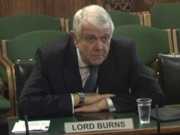 Lord Burns tells MPs Ofcom would be 'suitable vehicle' to regulate social media as he is approved next chairman