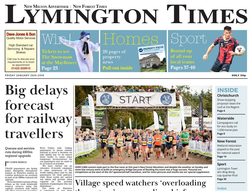 Family-owned Lymington Times retires 1960s tractor-powered printing press to go full colour