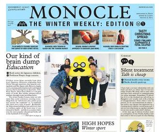 Monocle editor Tyler Brule printing limited weekly winter newspaper run at £5 per issue