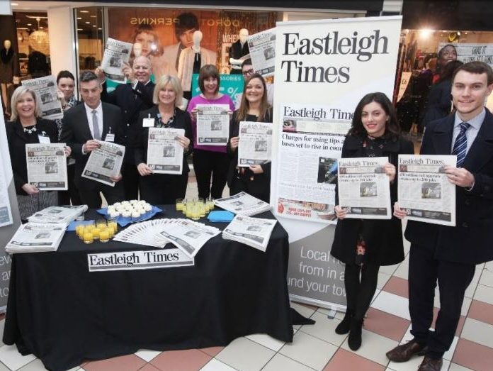 Newsquest Hampshire launches new weekly 'community newspaper' the Eastleigh Times
