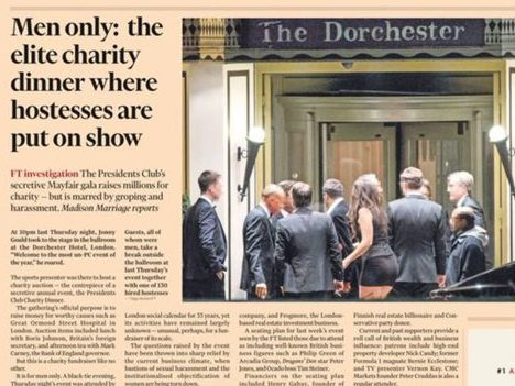 Scoop on alleged Presidents Club dinner sleaze sets new traffic record for Financial Times
