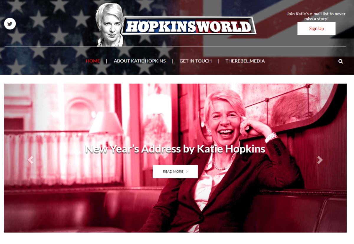 Former Mail Online columnist Katie Hopkins signed up by right-wing Canadian website The Rebel Media