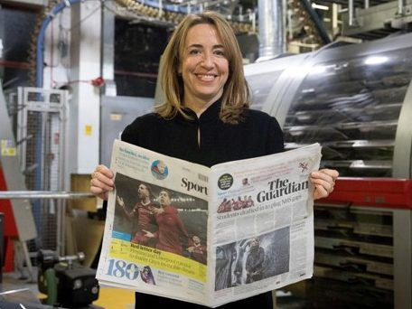 Guardian says new tabloid format 'important milestone' in turning finances around