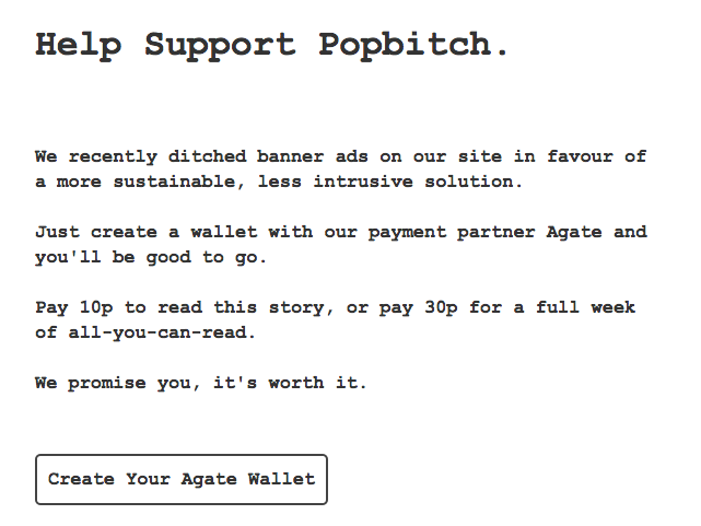 Gossip website Popbitch ditches banner ads for partial paywall charging 10p for articles