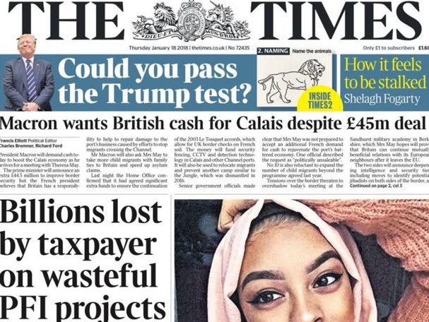 Times overtakes Daily Telegraph headline print circulation for first time, ABC figures show