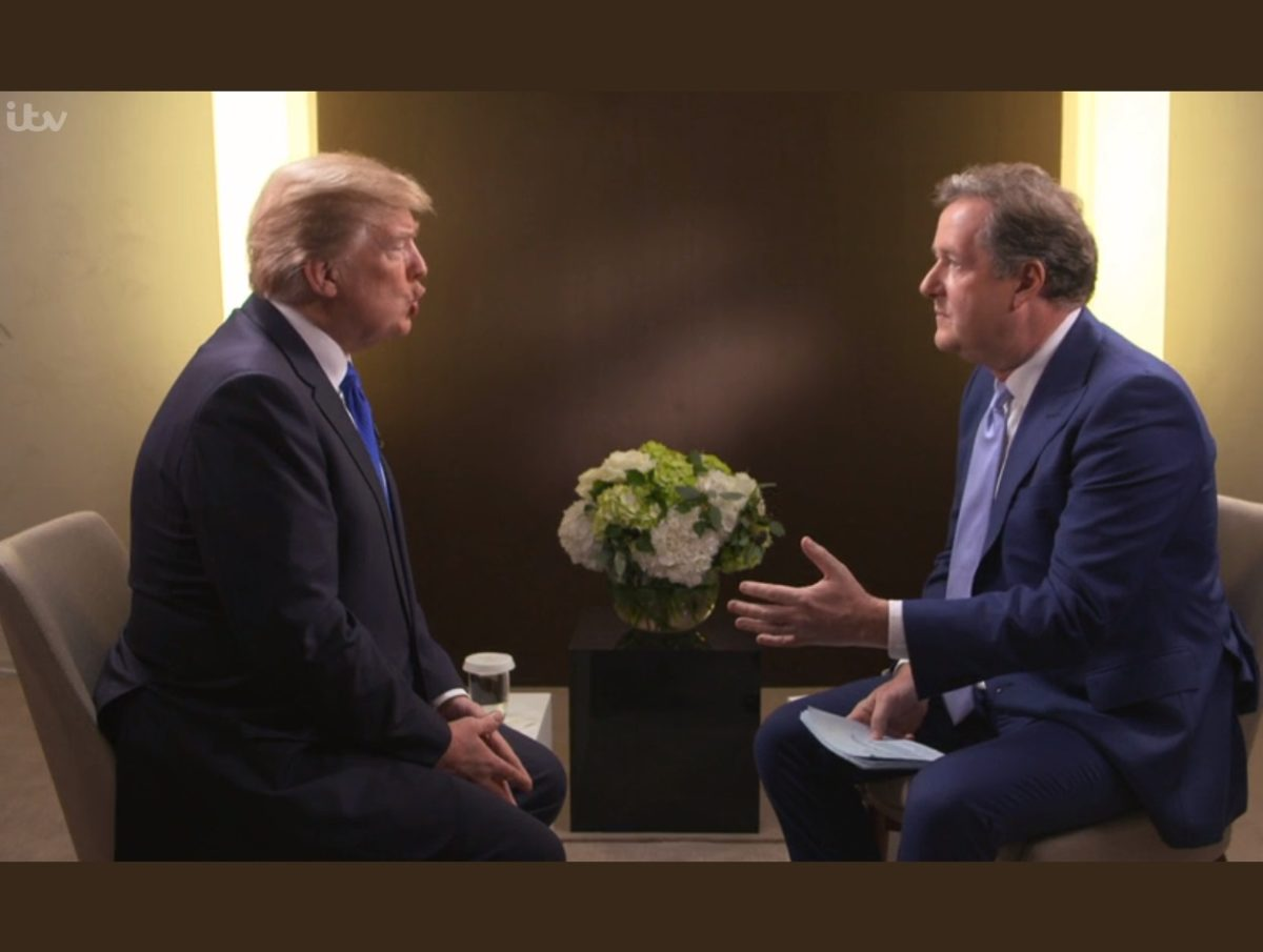 Piers Morgan defends Trump interviews as being as 'combative' as any others