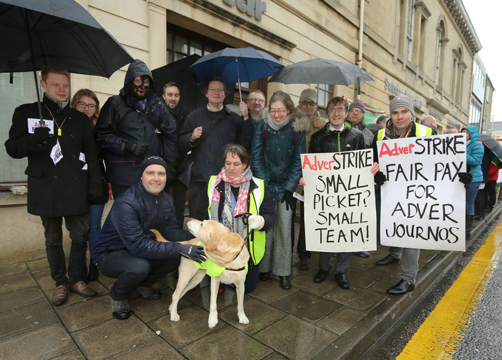 Second day of strike action at Swindon Advertiser in protest at £19k pay rate for some senior reporters