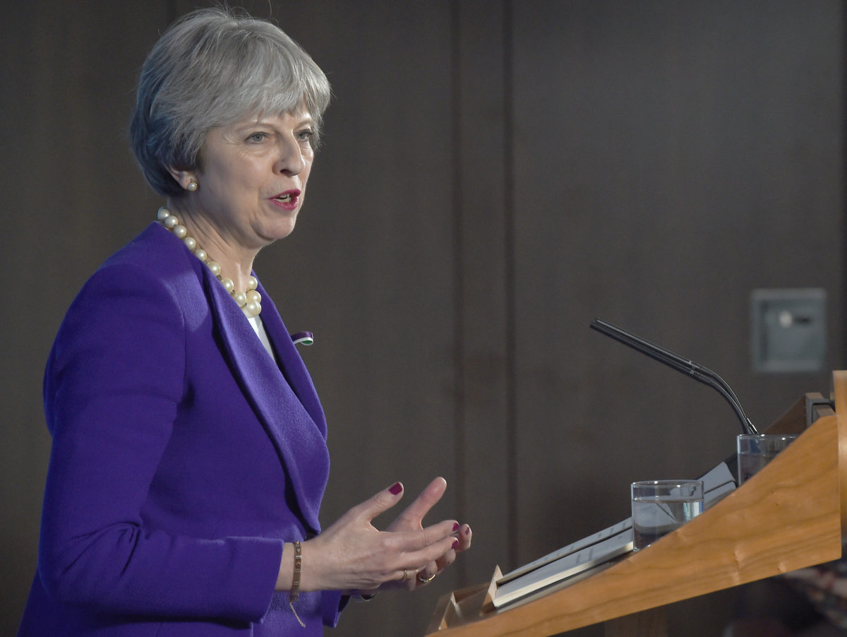 Theresa May pokes fun at Standard editor Osborne and lauds political journalists at Westminster Correspondents' Dinner