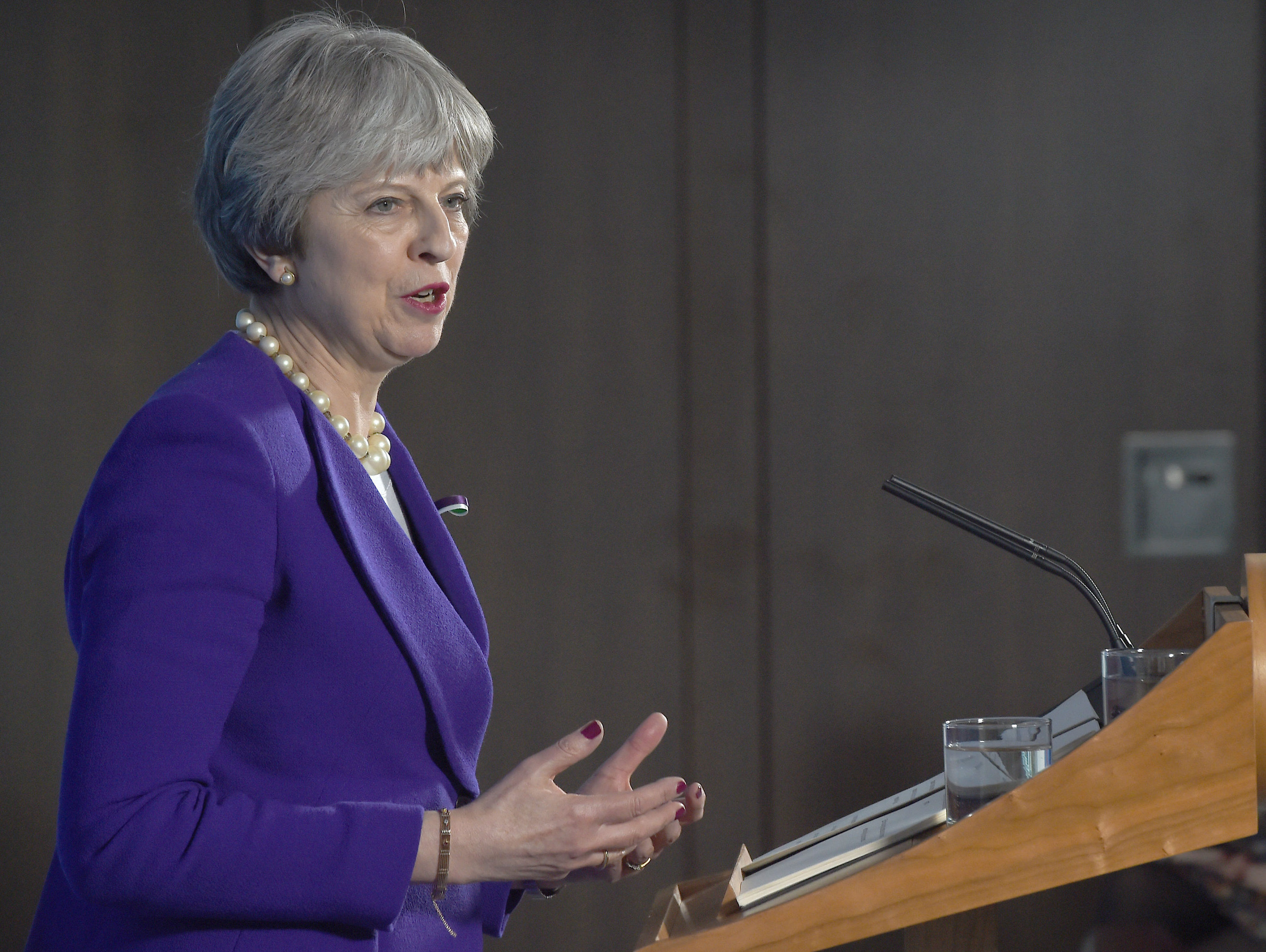 Theresa May tells aspiring female politicians to 'be yourself'