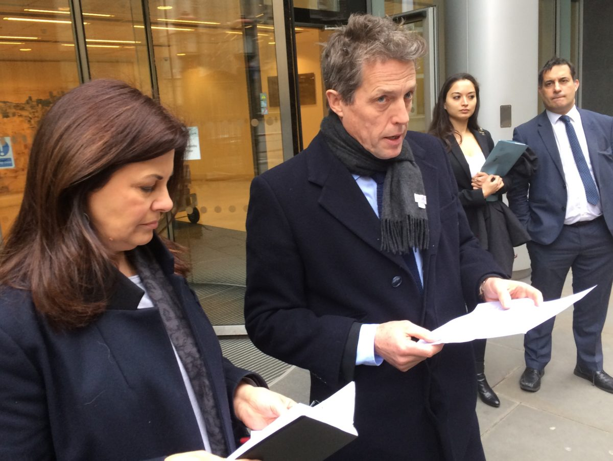 Actor Hugh Grant and Crimewatch's Jacqui Hames call for Leveson Two after settling phone hacking disputes