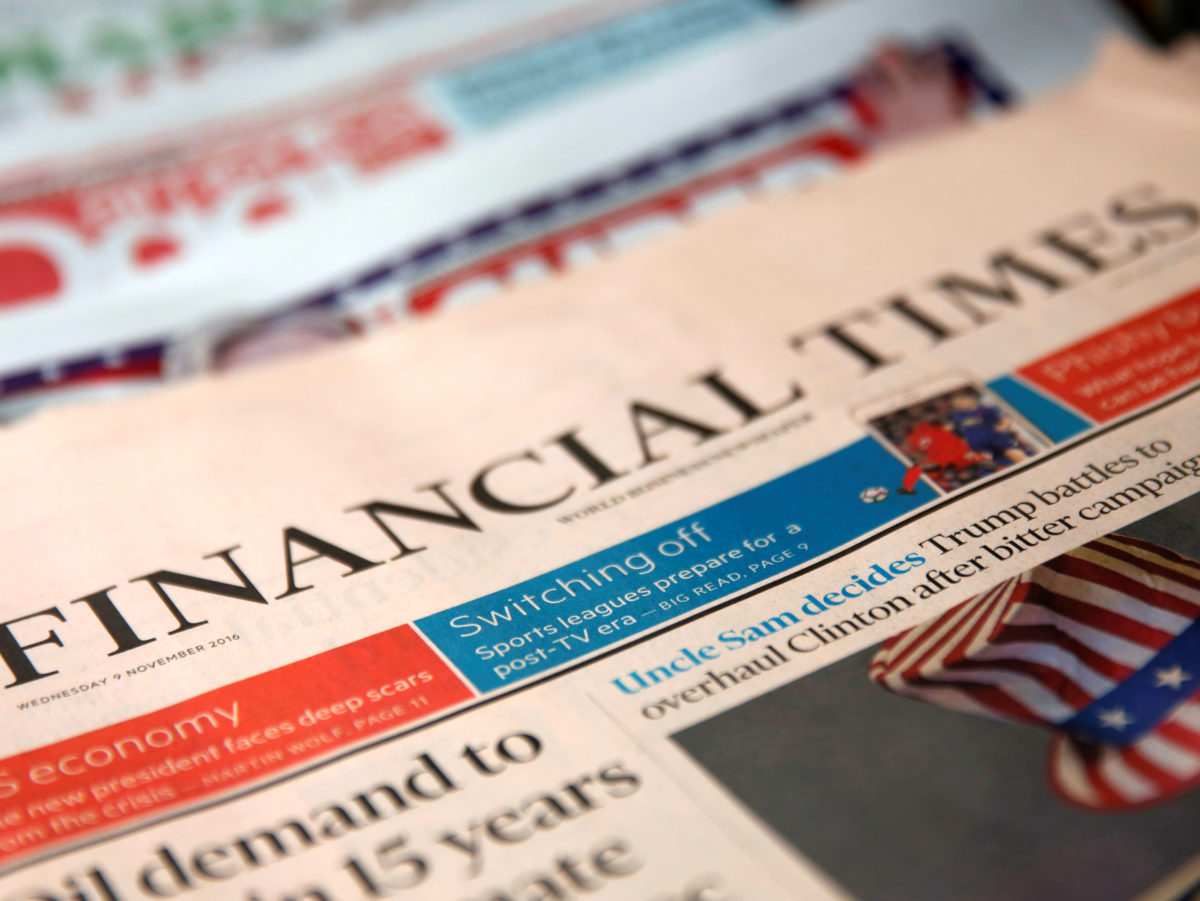 FT says digital subscriptions now make up three-quarters of its paying audience