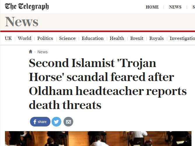 Telegraph apologises over 'unfounded' claims married couple plotted Islamist 'Trojan Horse' takeover of primary school