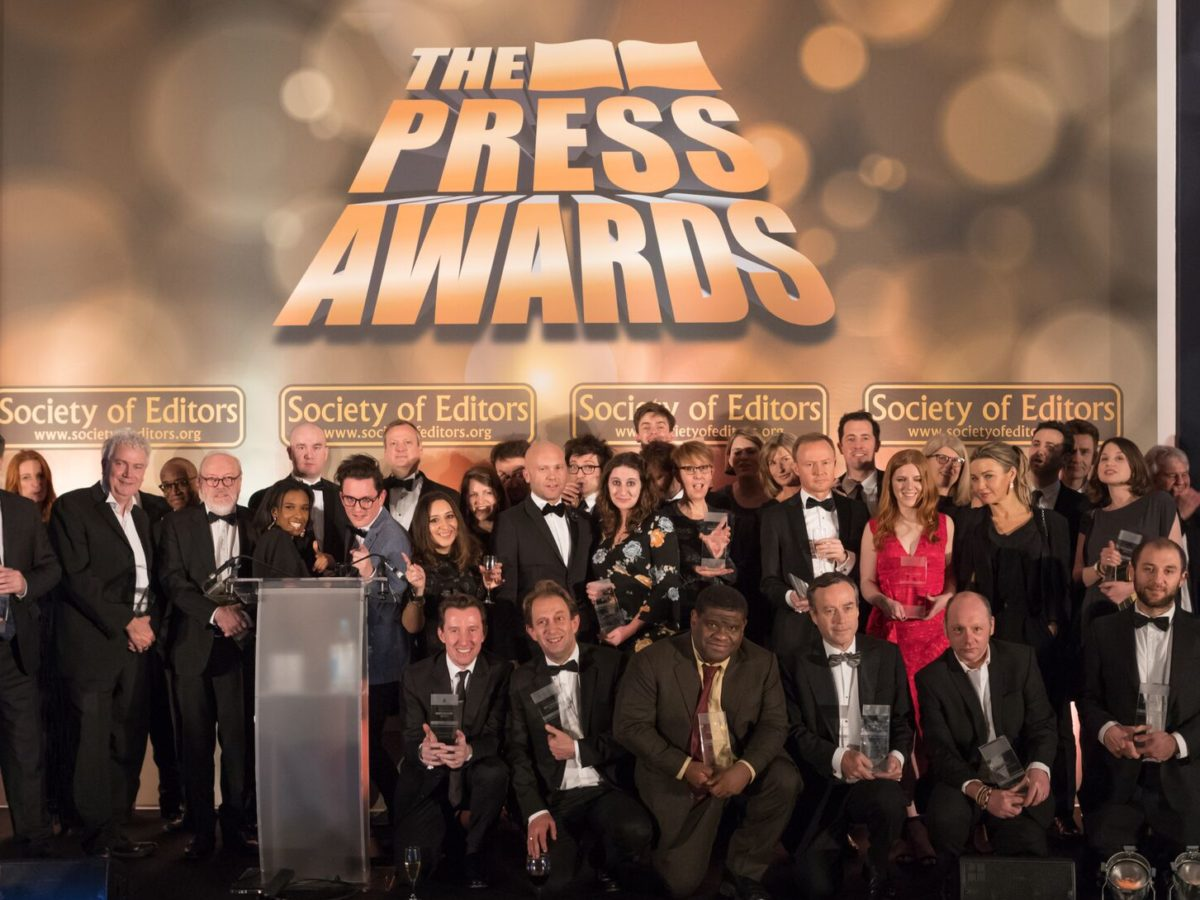 Financial Times, Buzzfeed and The Guardian among big winners at Society of Editors Press Awards 2018