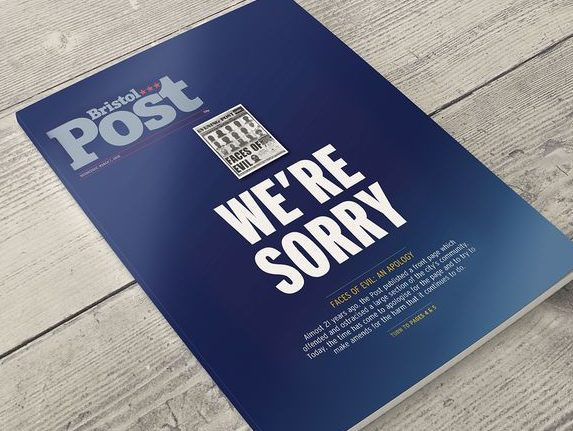 Bristol Post editor sorry for 'Faces of Evil' splash published 21 years ago that 'destroyed' trust with local black community